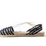 Plana calada natural tejida en negro - Espardenyes de Ibiza